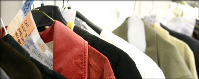 Services include cleaning, preservation, alterations, repairs, and medical laundry.
